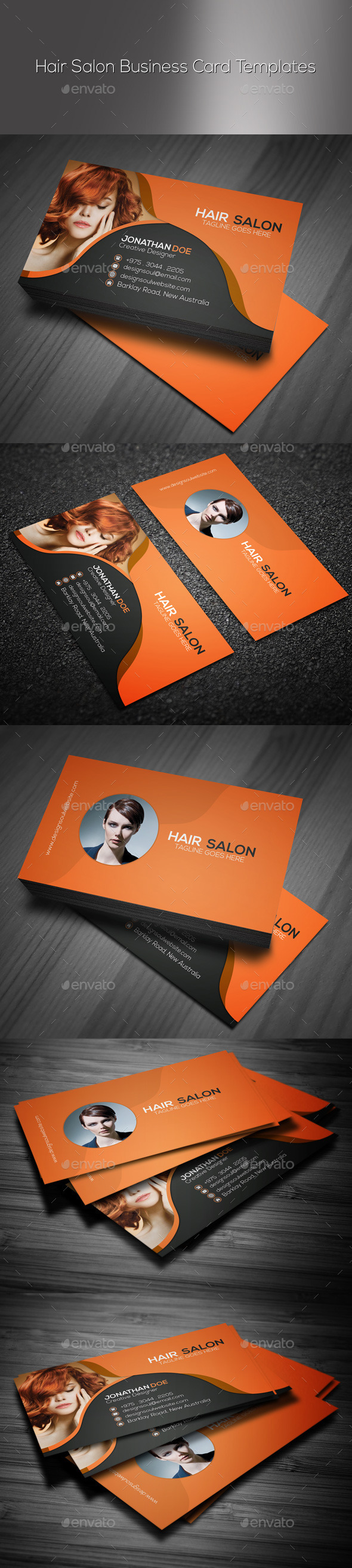 Hair Salon Business Card Graphics Designs Templates - Hair salon business card template