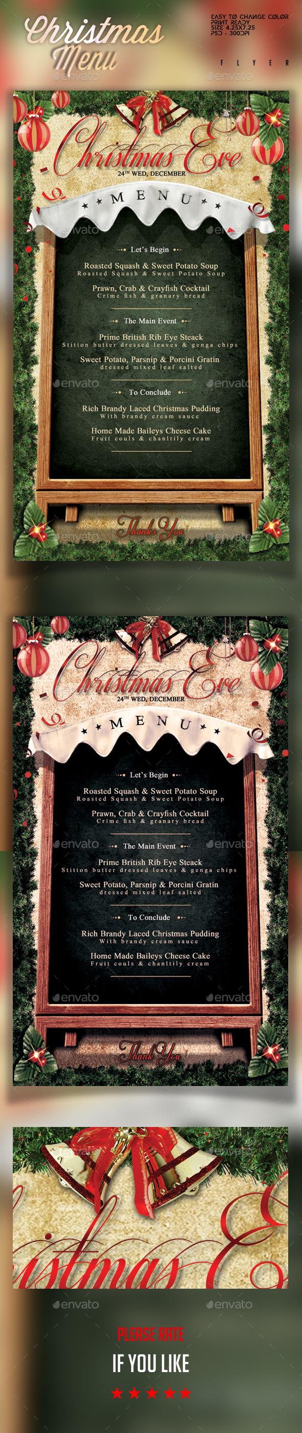 Christmas Menu Flyer Template - Holidays Events