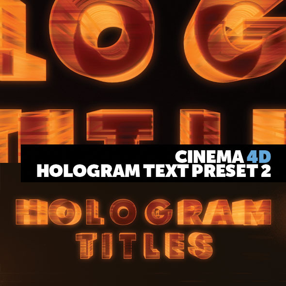 Cinema 4D Title Preset Holograms Style 2 - 3DOcean Item for Sale