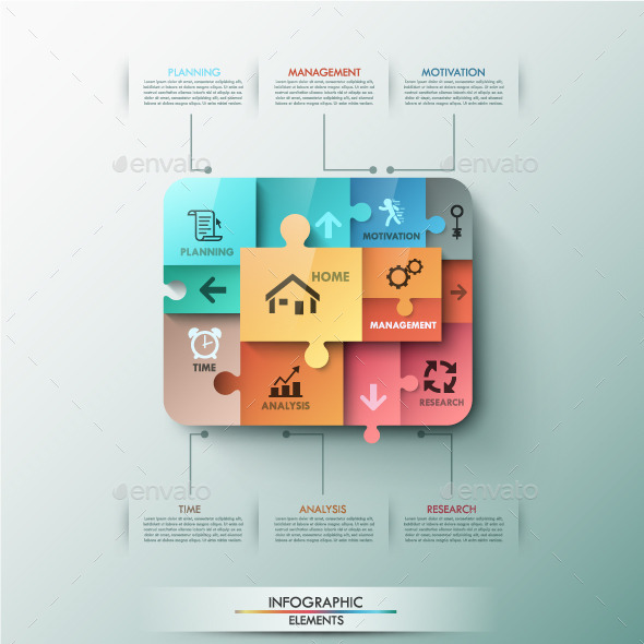 Modern Infographic Puzzle Template - Infographics