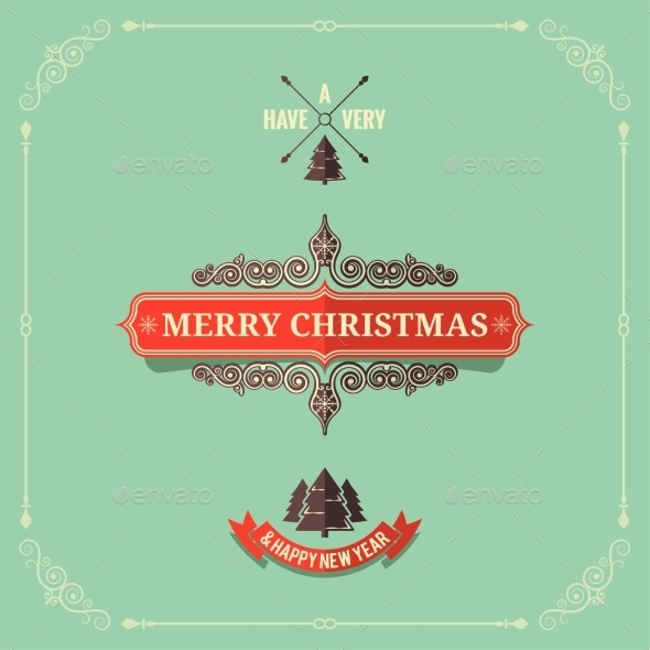 Christmas Vintage Card Background - Christmas Seasons/Holidays