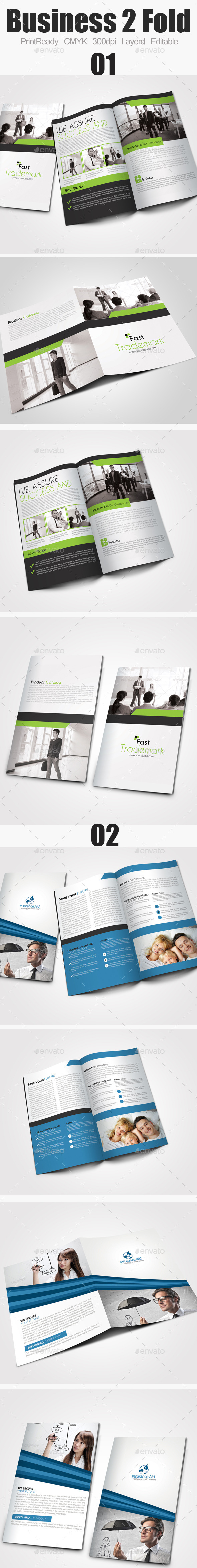 Bi Fold Business Brochure Bundle - Corporate Brochures
