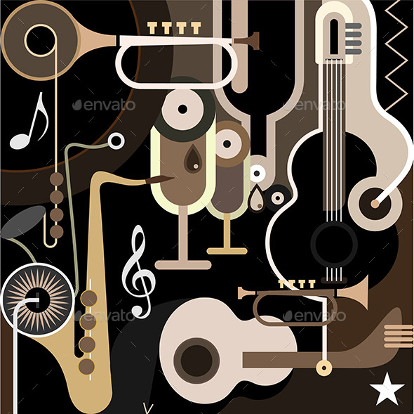 Music Background - Objects Vectors