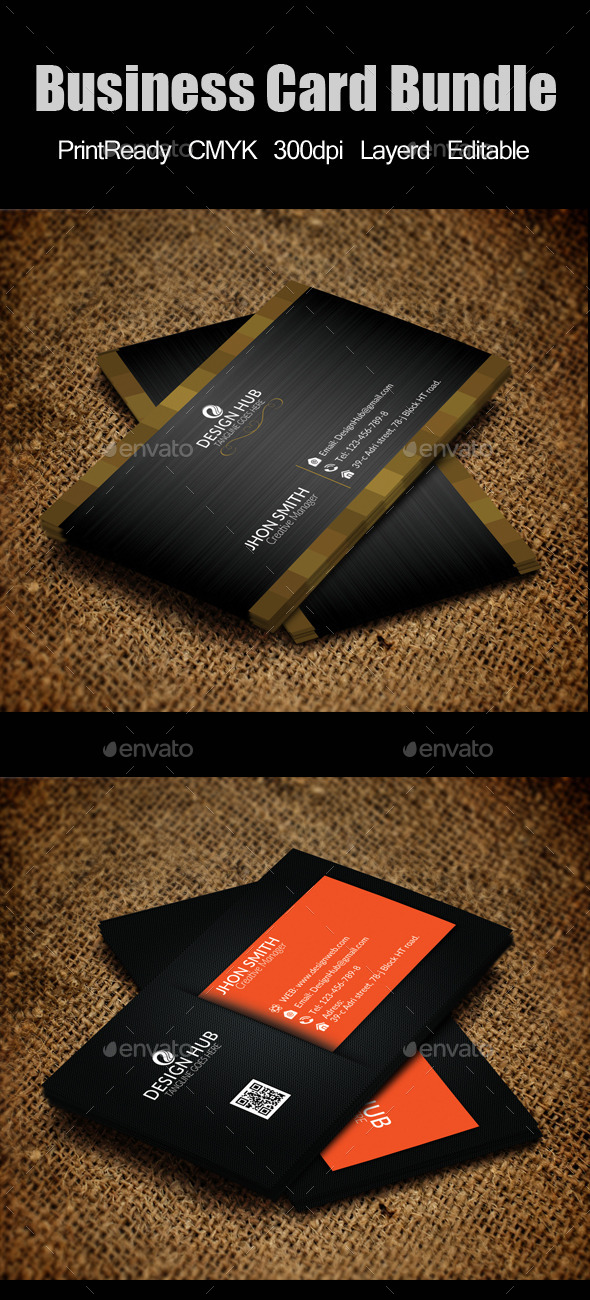Elegant Business Card Bundle - Corporate Business Cards