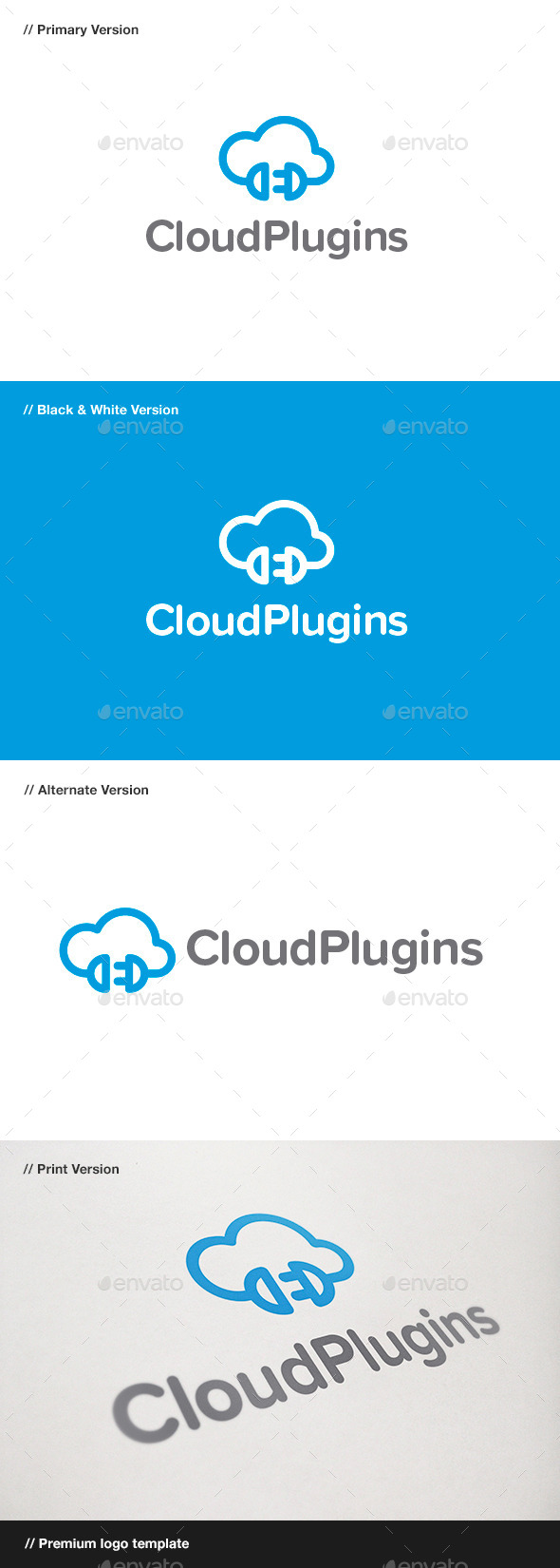 Cloud Plugins Logo - Objects Logo Templates
