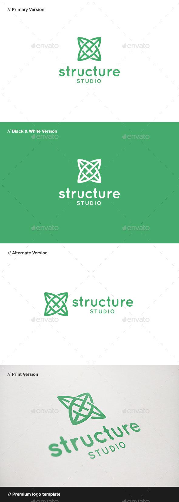 Structure - Symbol Logo - Symbols Logo Templates