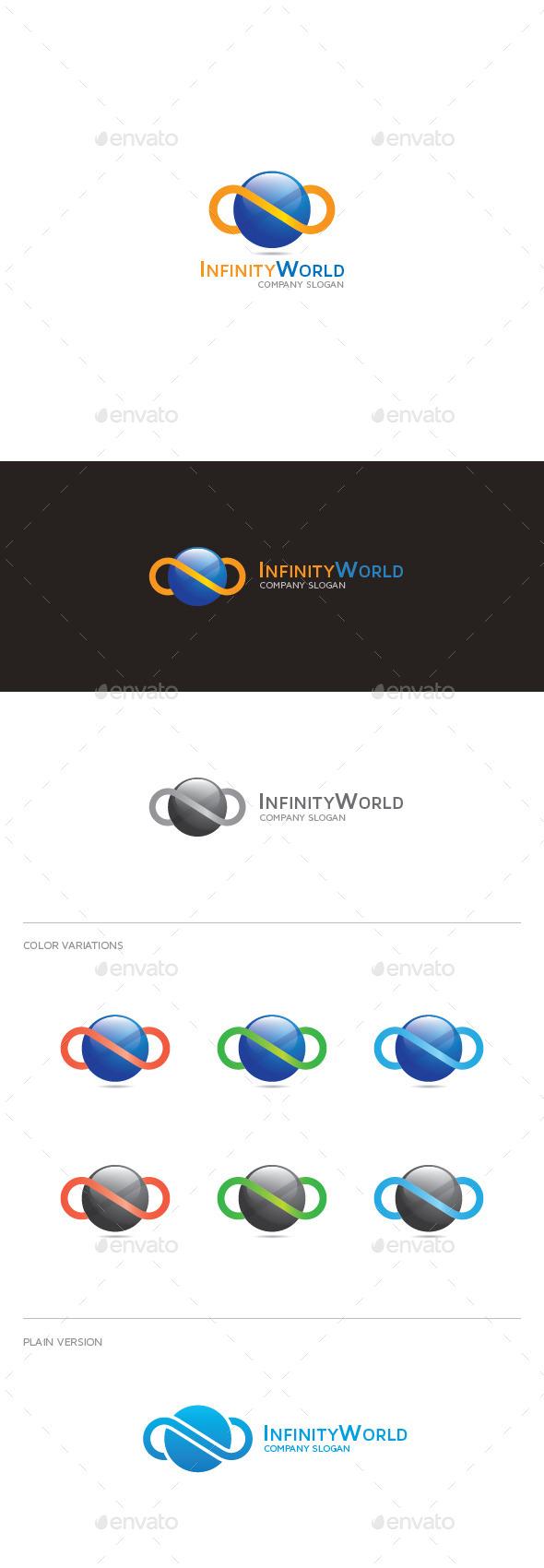 Infinity World Logo - Abstract Logo Templates