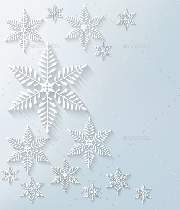 Snowflake Background - Christmas Seasons/Holidays