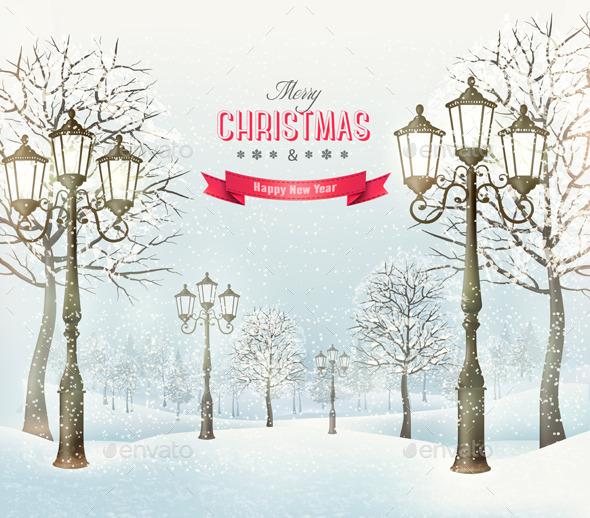 Christmas Evening Landscape  - Christmas Seasons/Holidays