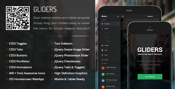 Gliders Mobile | Mobile Template