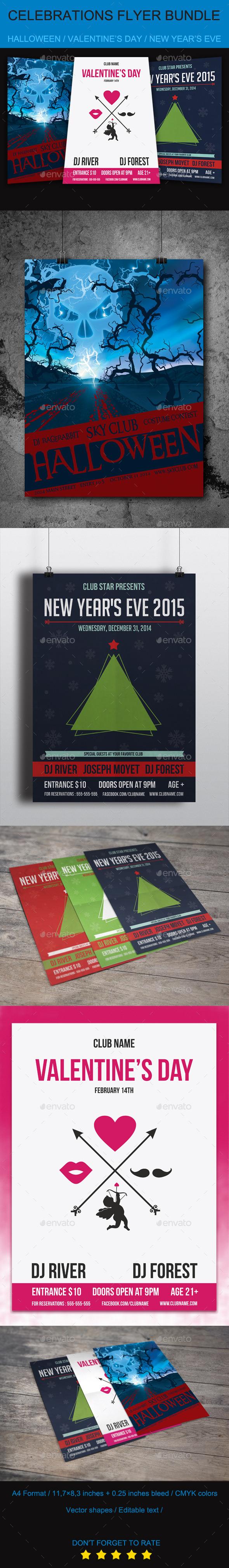 Celebrations Flyer Bundle - Flyers Print Templates