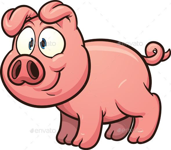 Cartoon Pig - Animals Characters