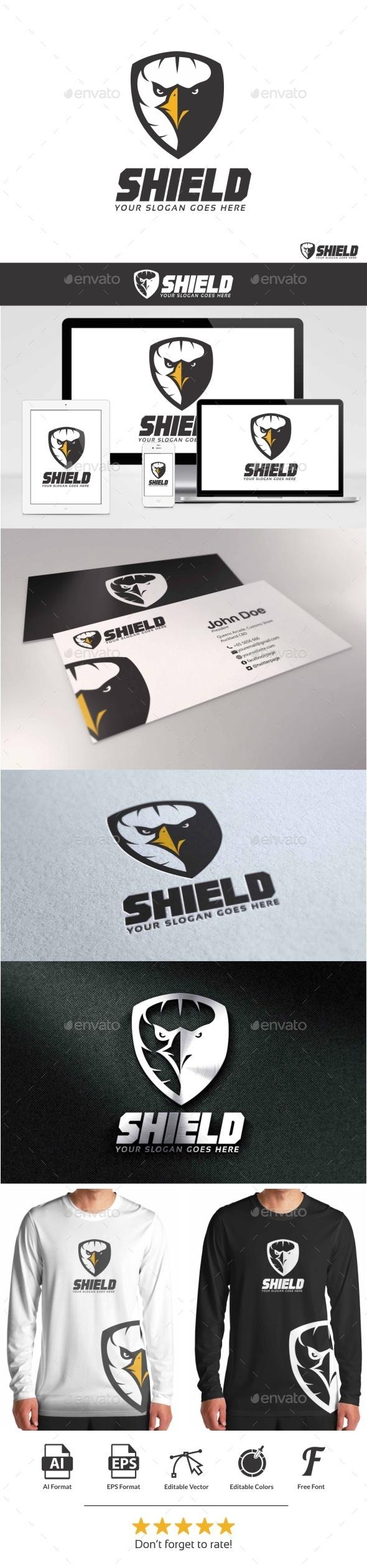 Eagle Shield Logo - Animals Logo Templates