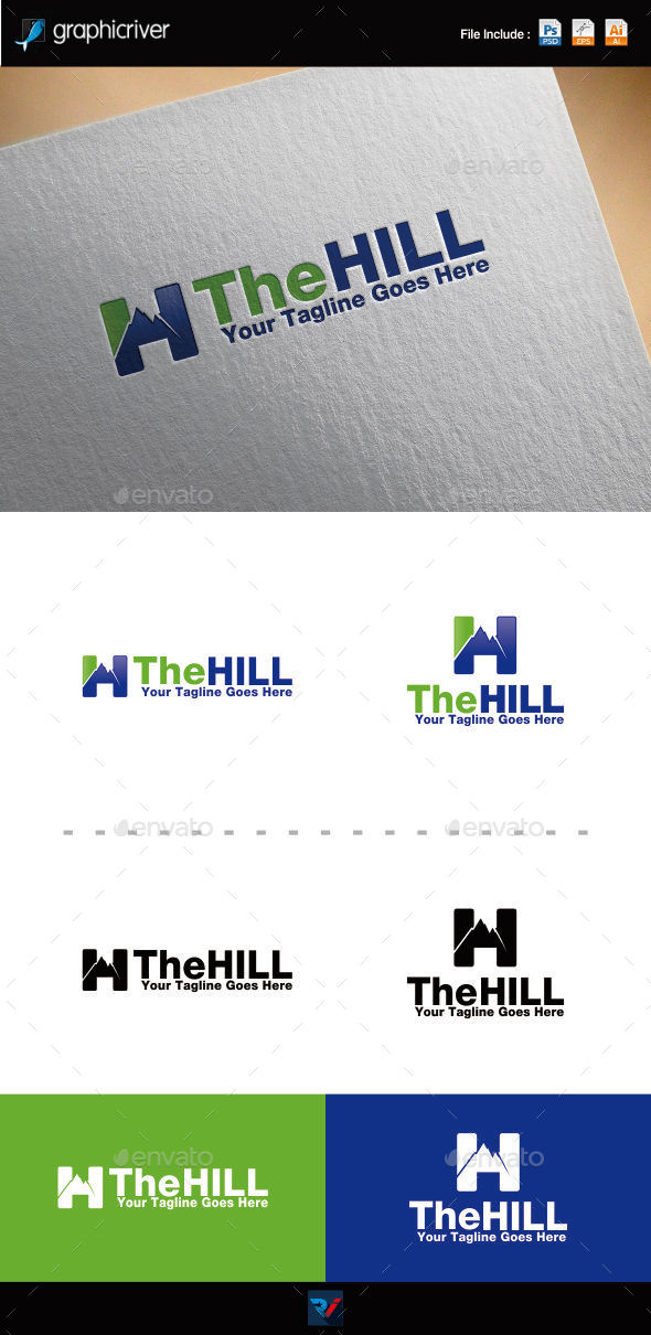 The Hill Logo - Letters Logo Templates