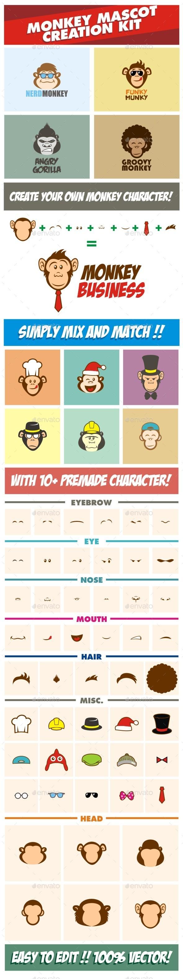 Monkey Character Creation Kit - Animals Characters