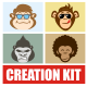 Monkey Character Creation Kit - GraphicRiver Item for Sale