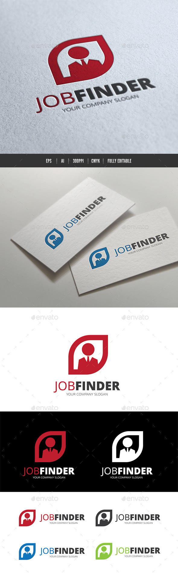 Job Finder - Humans Logo Templates