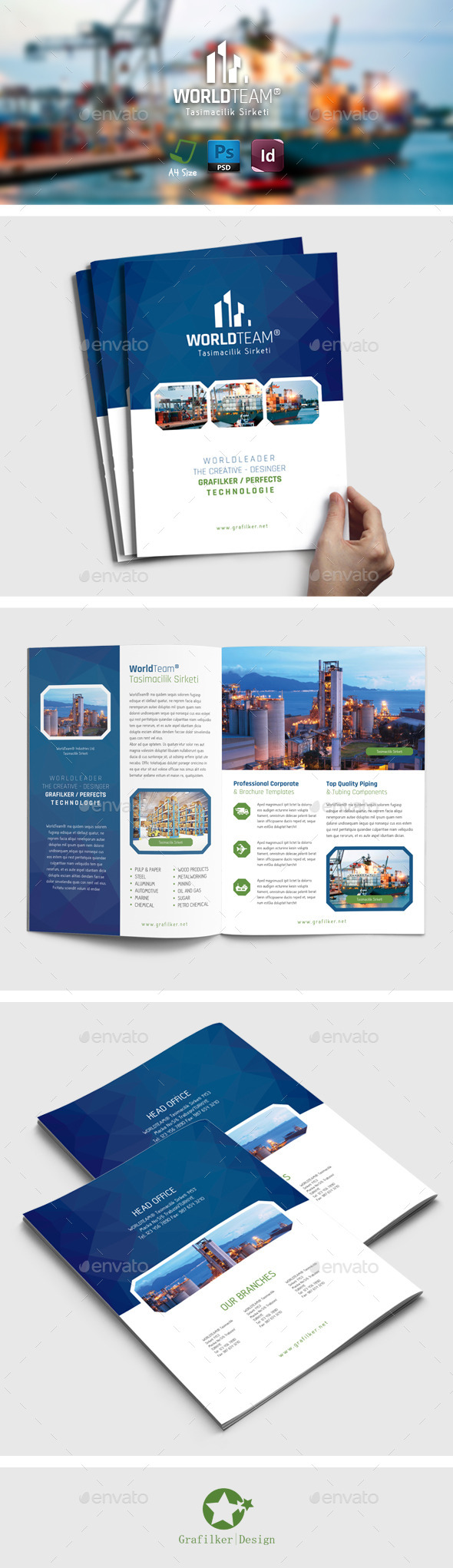 International Brochure Templates - Brochures Print Templates