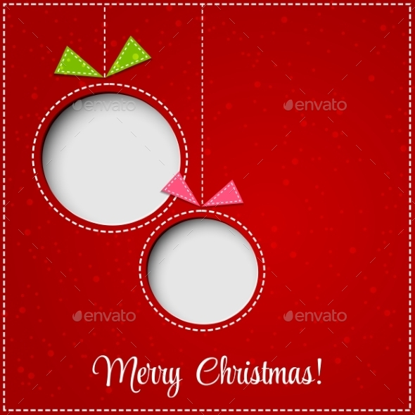 Merry Christmas Greeting Card with Bauble - Miscellaneous Vectors