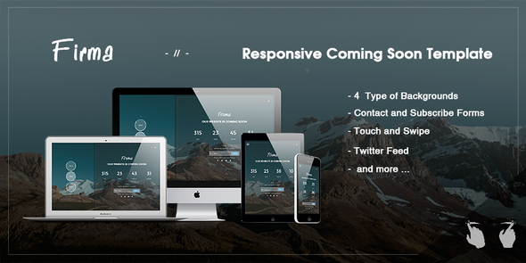 Firma –  Responsive Coming Soon Template