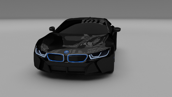 BMW i8 black - 3DOcean Item for Sale