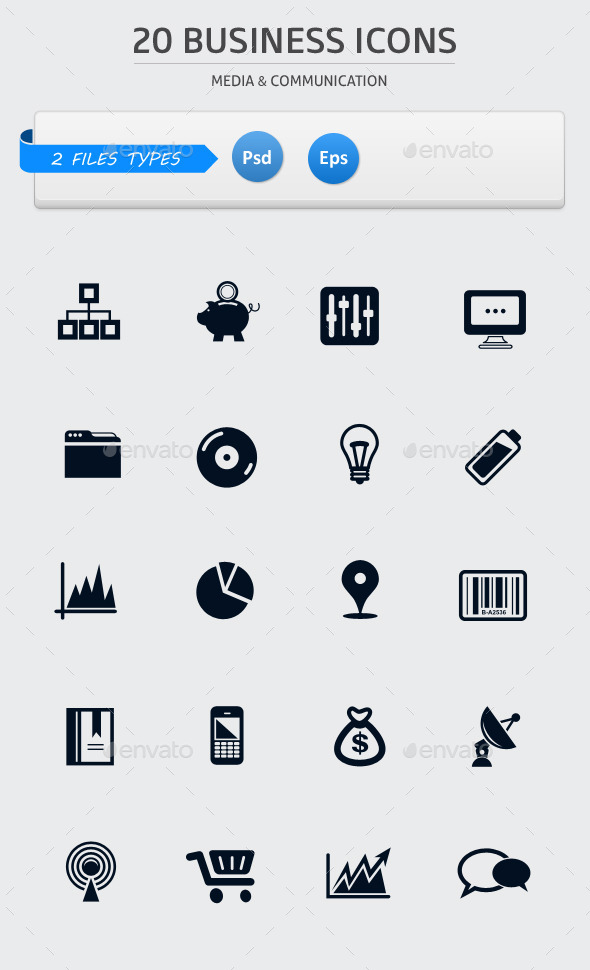 Pack of 20 Business Icons - Web Icons