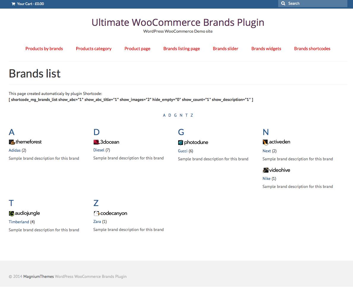 Woocommerce Shortcodes Plugin