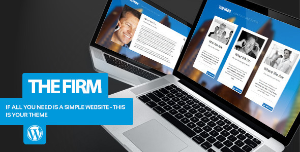 The Firm - Simple Company WordPress Theme - Business Corporate