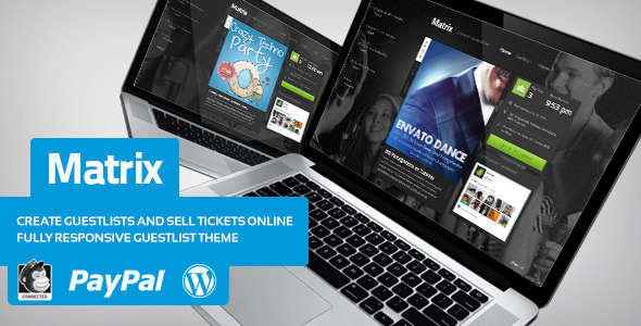Matrix – Event Guest List WordPress Theme
