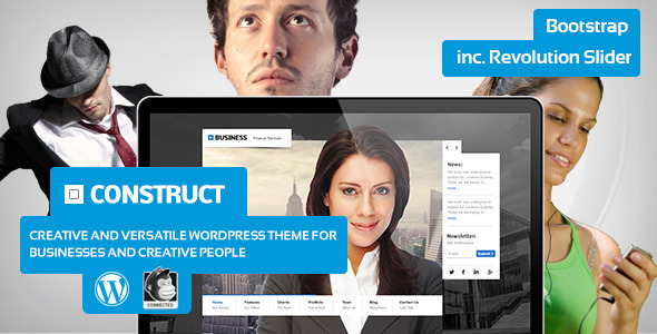 Construct - Creative Business Theme for Wordpress - Business Corporate