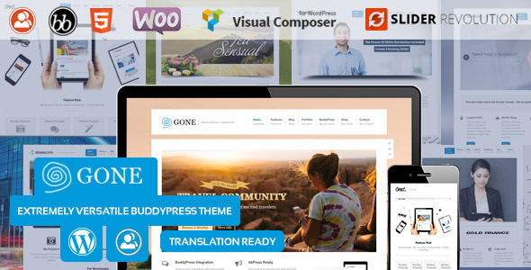 Gone - BuddyPress & WordPress Theme - BuddyPress WordPress