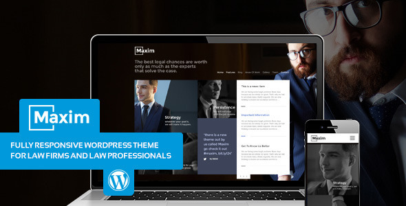 Maxim - Simple Company and Lawyer Theme - Business Corporate