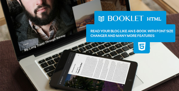 Booklet - Personal Blogging Html Theme - Personal Site Templates