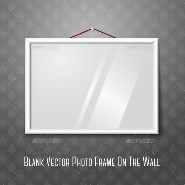 Blank Photo Frame on Wall - Decorative Symbols Decorative