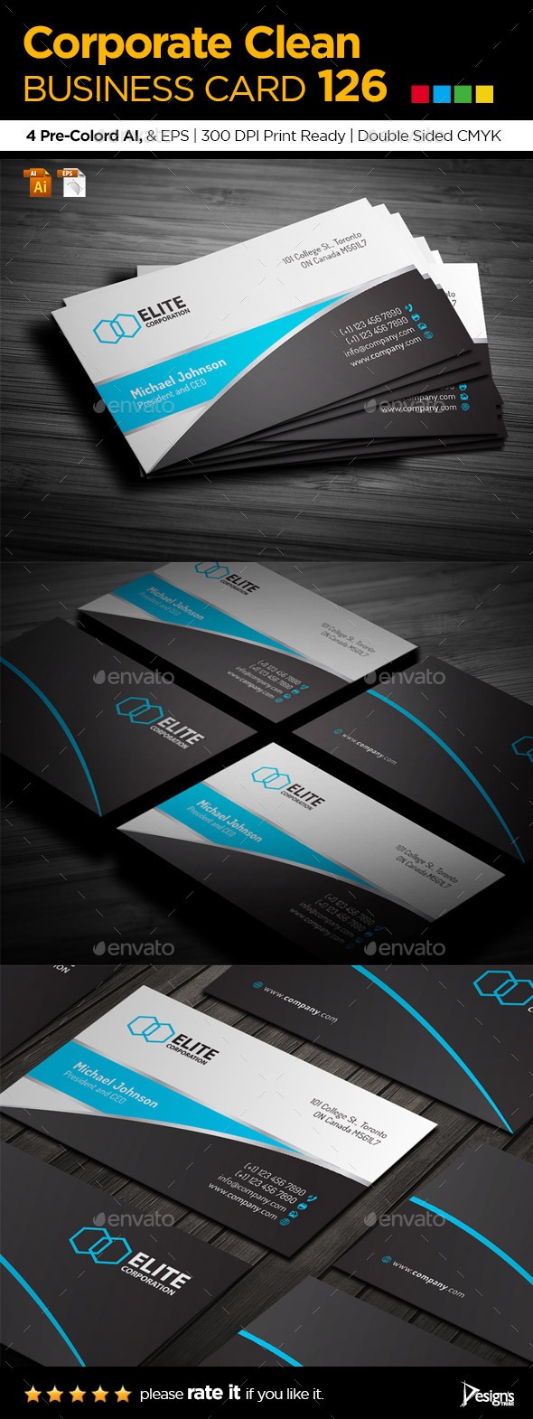 Simple and Clean Business Card 126 - Business Cards Print Templates