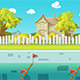 Nature Pool Game Background - GraphicRiver Item for Sale