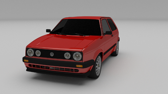 VW Golf Mk 2 - 3DOcean Item for Sale