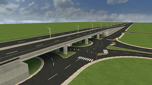 Highway Bridge - 3DOcean Item for Sale