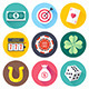 Luck and Chance Flat Icons - GraphicRiver Item for Sale