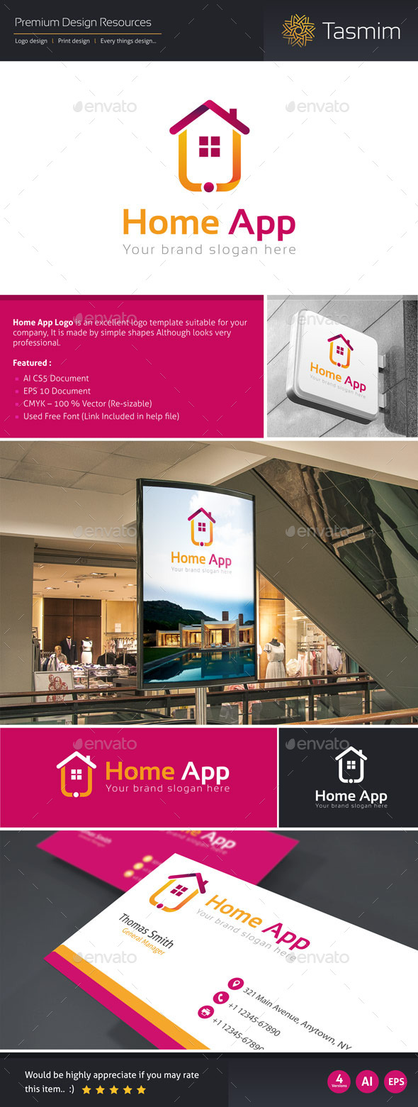 Home App Logo Template - Buildings Logo Templates