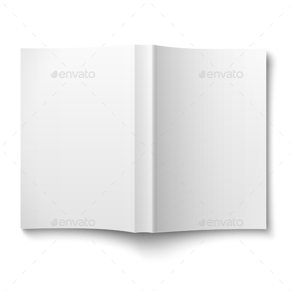 Blank Softcover Book Template Spread - Man-made Objects Objects