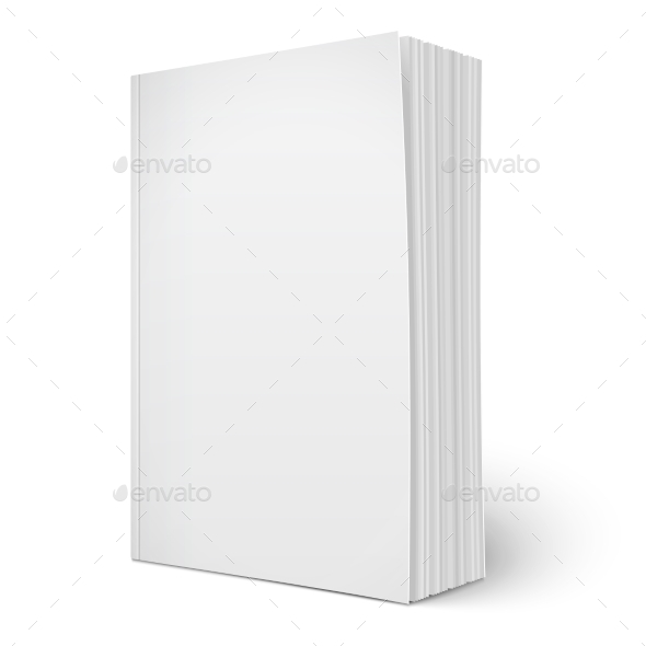 Blank Vertical Softcover Book  - Man-made Objects Objects