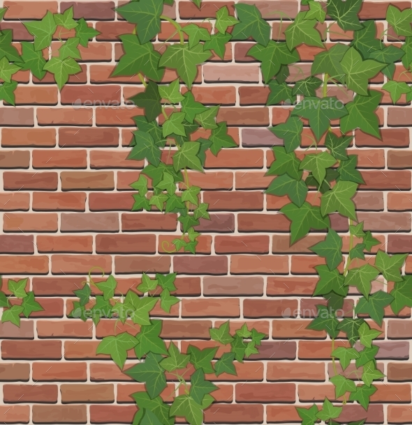 Brick and Ivy Texture - Backgrounds Decorative
