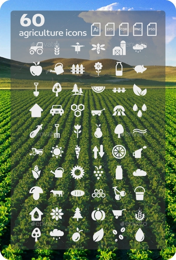 60 Agriculture Icons - Web Icons