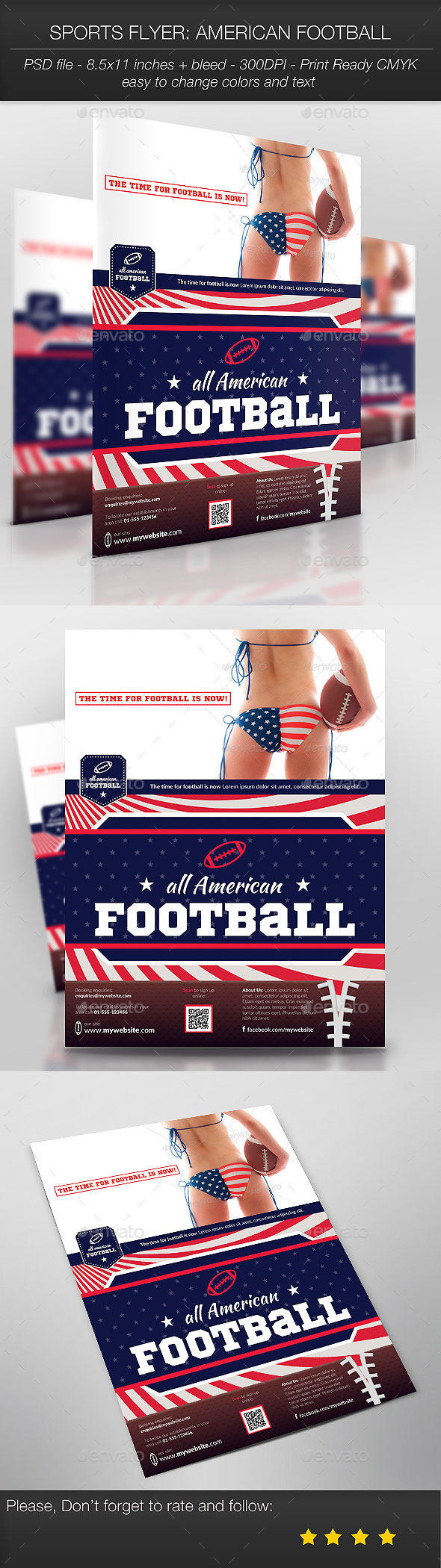 Sports Flyer: American Football - Sports Events