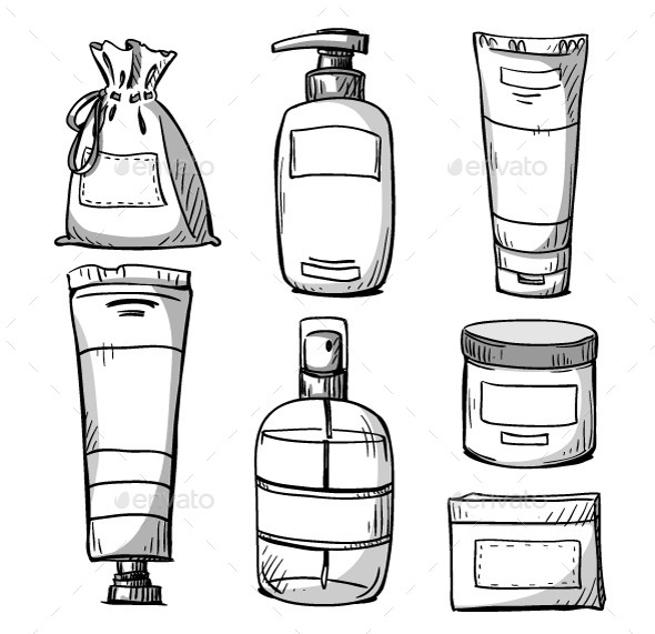 Cosmetics Packaging Design - Man-made Objects Objects