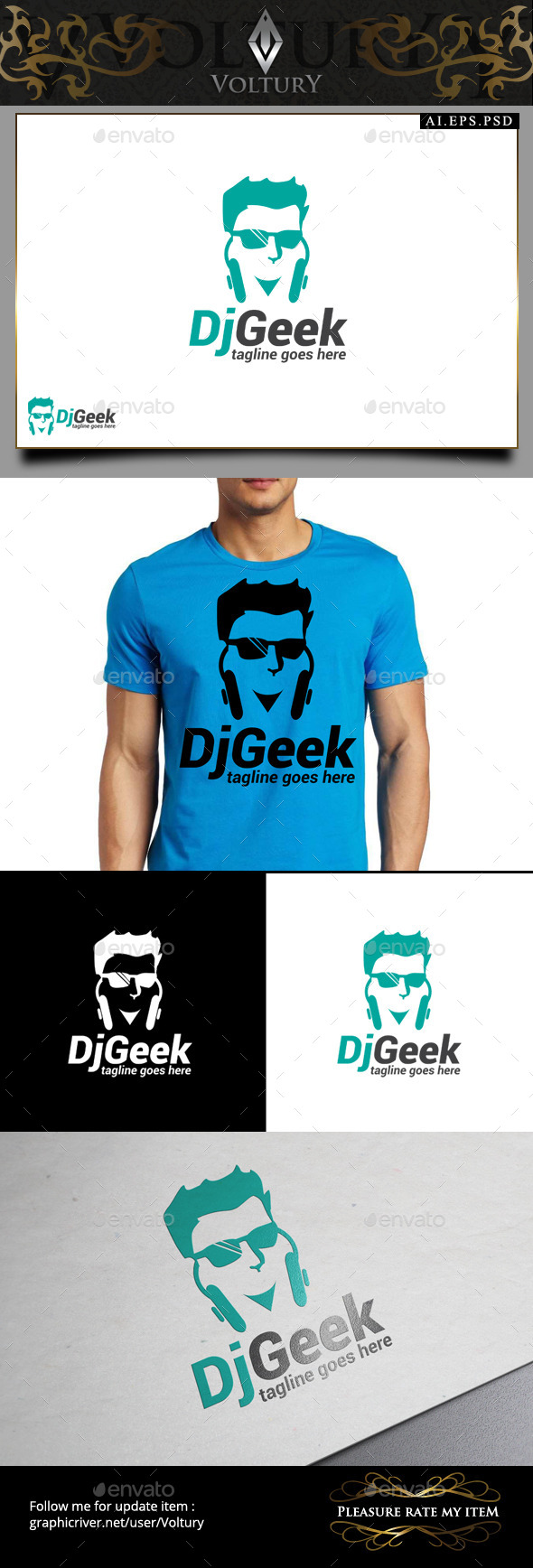 DJ Geek Logo - Humans Logo Templates