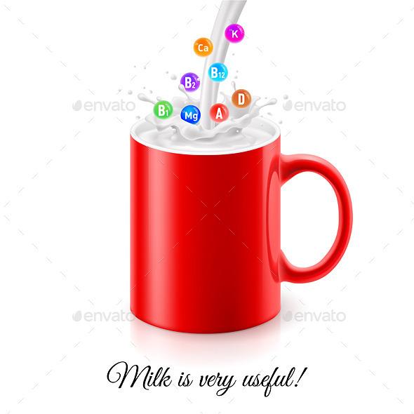 Useful Milk - Health/Medicine Conceptual