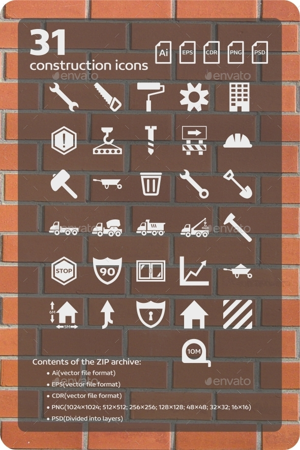 31 Construction Icons - Web Icons