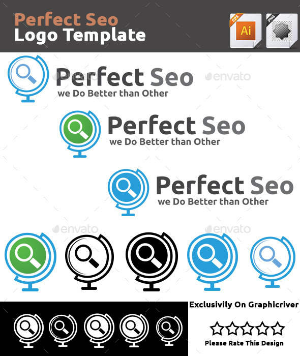 Perfect Seo Logo Template - Vector Abstract
